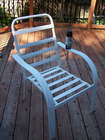 Patio Furniture Update The Bloggy Olympic Outdoor Event Painting Patio Furniture Patio Furniture Makeover Plastic Patio Furniture