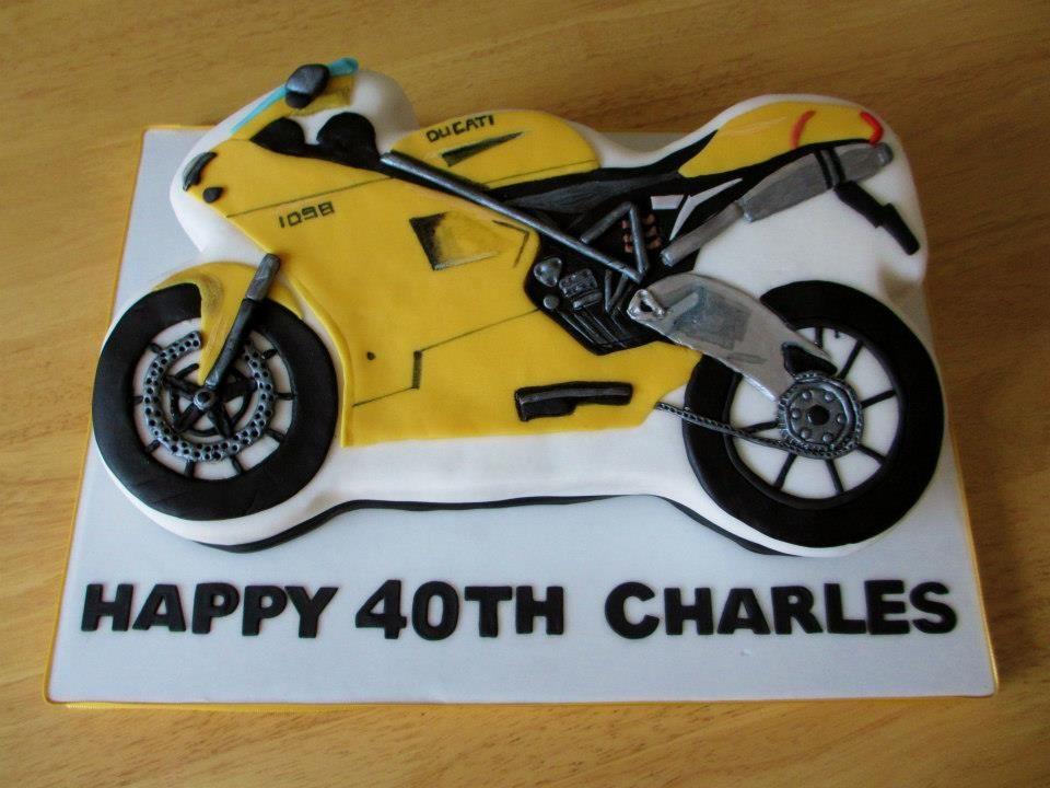 D Motorbike Cake Tin