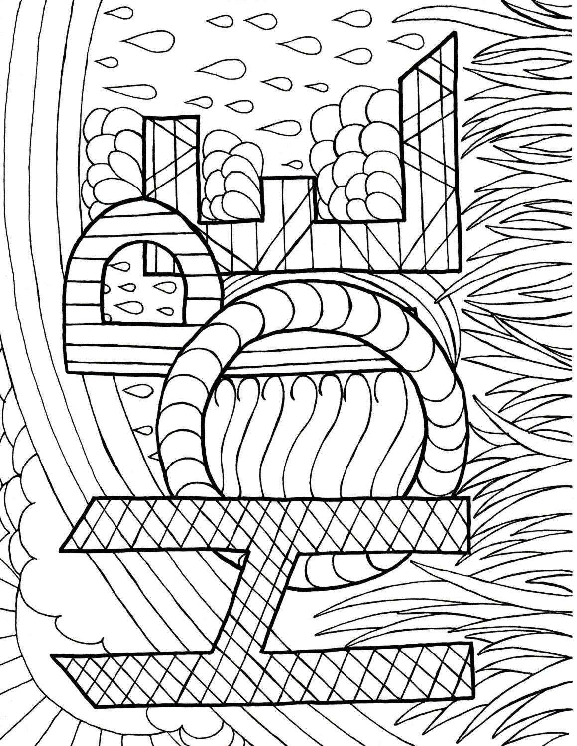 A Coloring Page of Hope | Pinterest