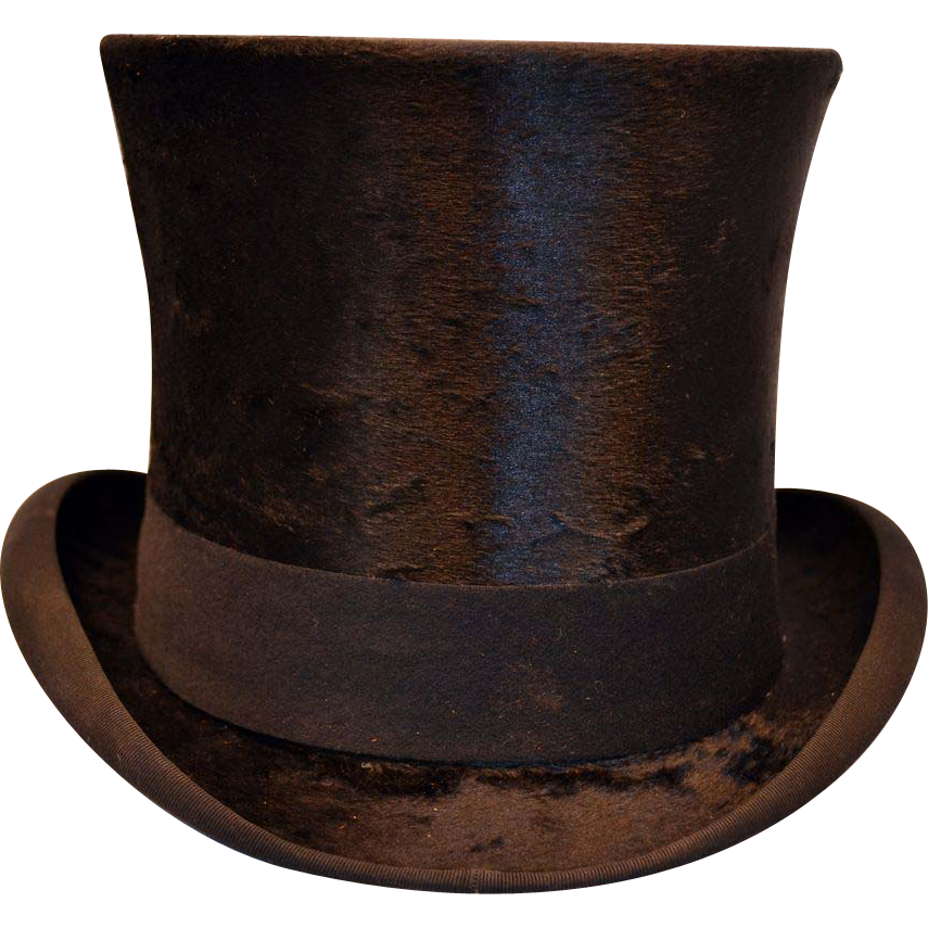 Antique Victorian Beaver Top Hat With Custom Leather Carrying Case Circa 1897 This Listing Is For A Beaver Top Hat And Vintage Wardrobe Hats Vintage Victorian