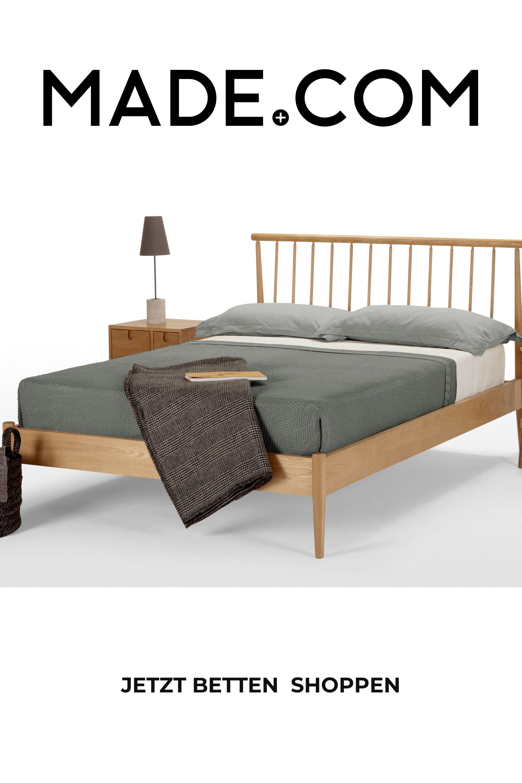 Penn Holzbett 140 X 200 Cm Eiche In 2020 Holzbetten Doppelbetten Bett