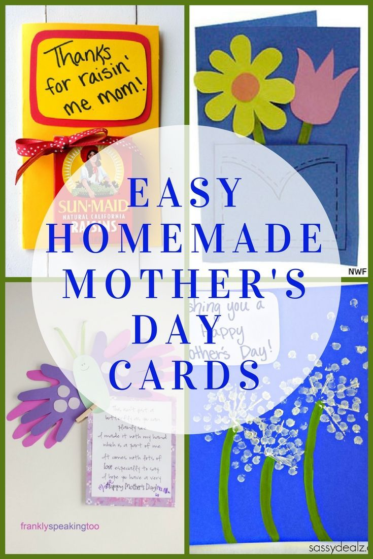 Easy homemade mothers day cards from the kids easy