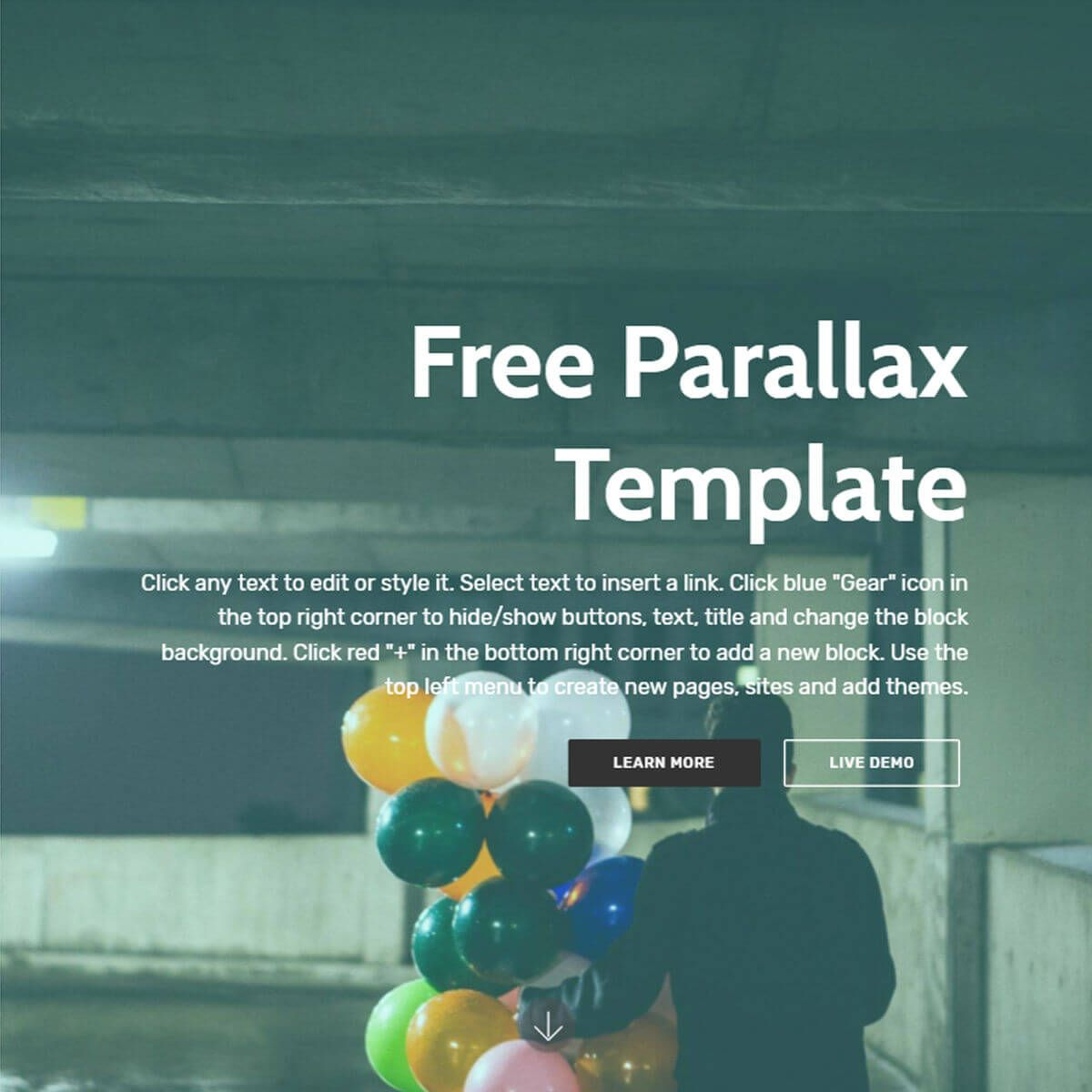 Bootstrap Parallax Template Free Download Templates Bootstrap Template Parallax