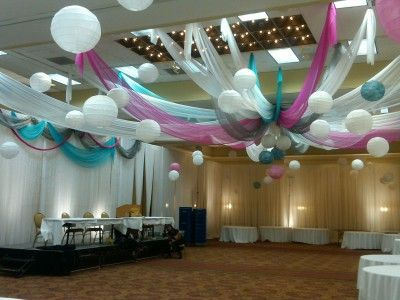 tulle ceiling decoration - google search | candyland party ideas