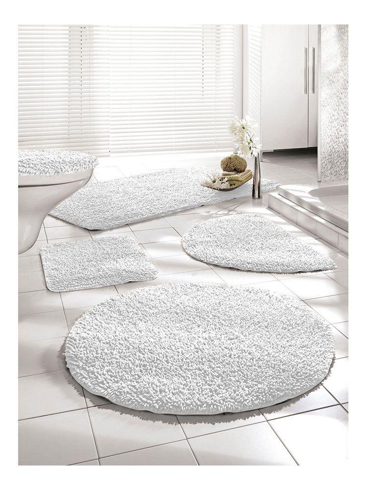 badmatten Stijlvolle heerlijke zachte witte set badmatten - badezimmer garnitur set