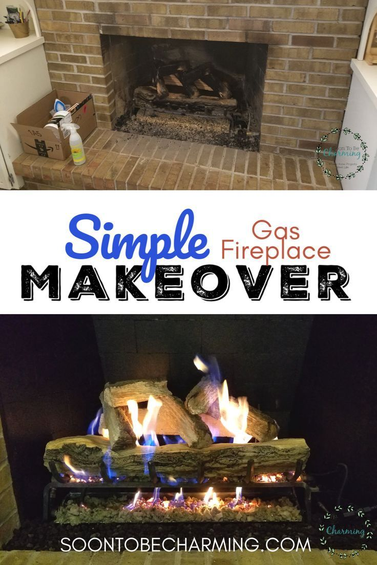 Gas Fireplace Makeover- Final Reveal #fireplacemakeoverdiy A few things you can do to help your gas fireplace look brand new!  These ideas for a gas fireplace makeover are simpler than you think.   #soontobecharming #fireplacemakeover #DIY #gasfireplace #sootonbrick #rockwool #fireplacemakeoverdiy
