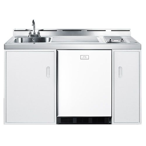 Complete Compact Kitchen Unit: Summit 60 Inch Combo Kitchen With Smoothtop Electric