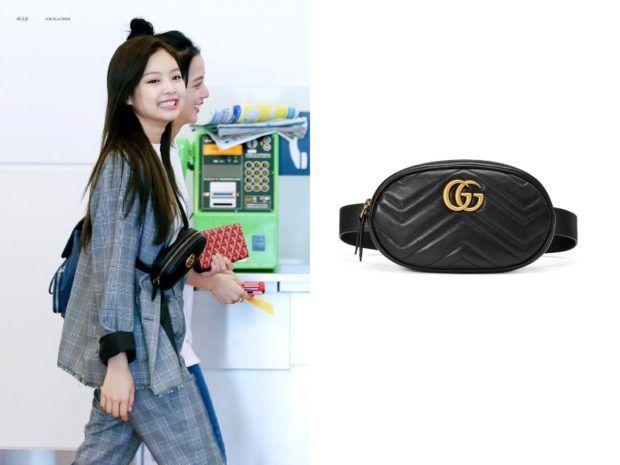 170826 Blackpink Jennie Wears Gucci Bag At Haneda Airport Kdramastyle Gucci Bag Gucci Gucci Marmont Belt