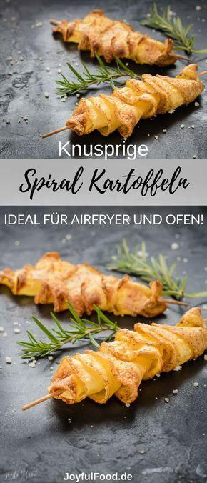 Spiralkartoffel-Spieße für Airfryer oder Backofen #kartoffelnofen