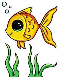 Fish Fish Fish Cartoon Drawing