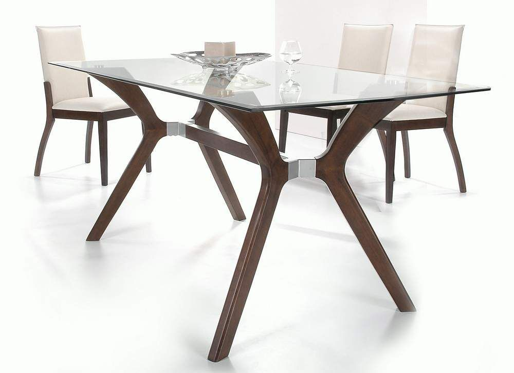 Stylishwoodenandclearglasstopleatherdiningsetfurniture Adorable Italian Glass Dining Room Tables Decorating Inspiration