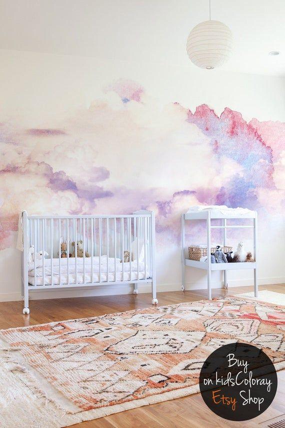 Aquarelle abstraktere Wolken Wand Wandbild Weiche und