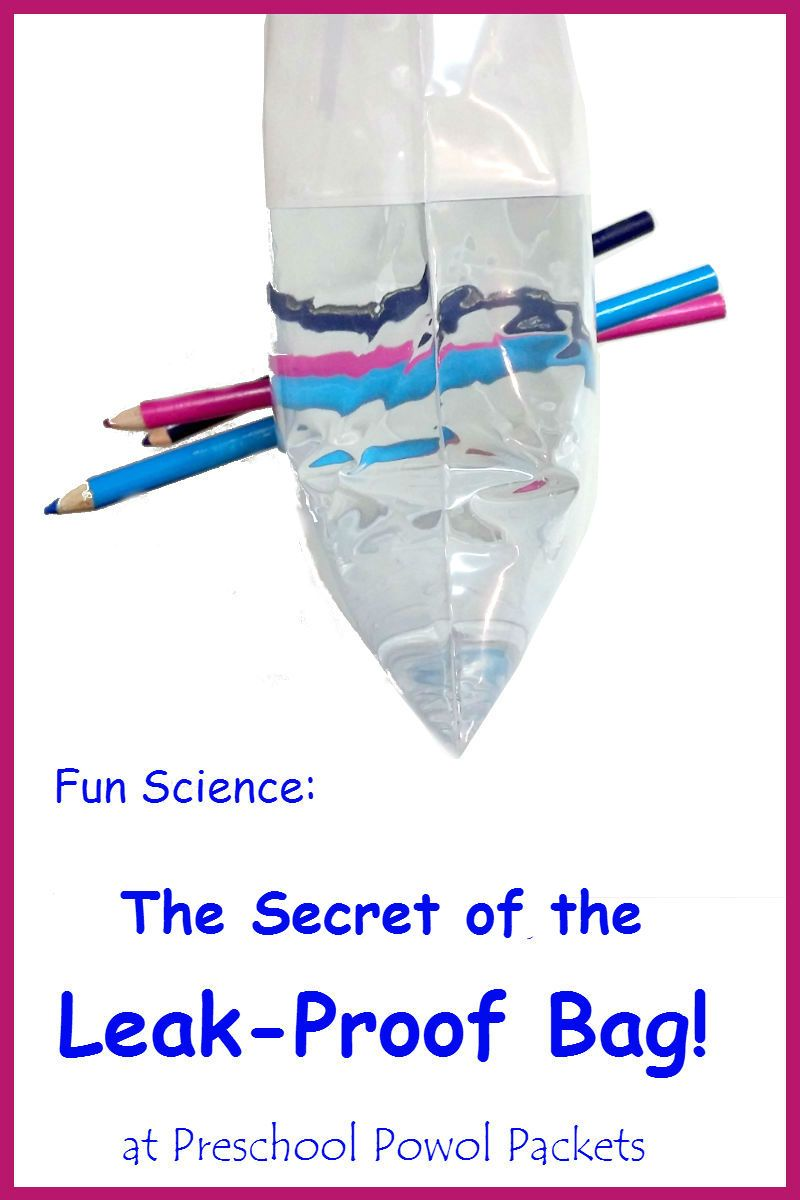 The Secret of the Leak-Proof Bag Science Experiment | Learning ...