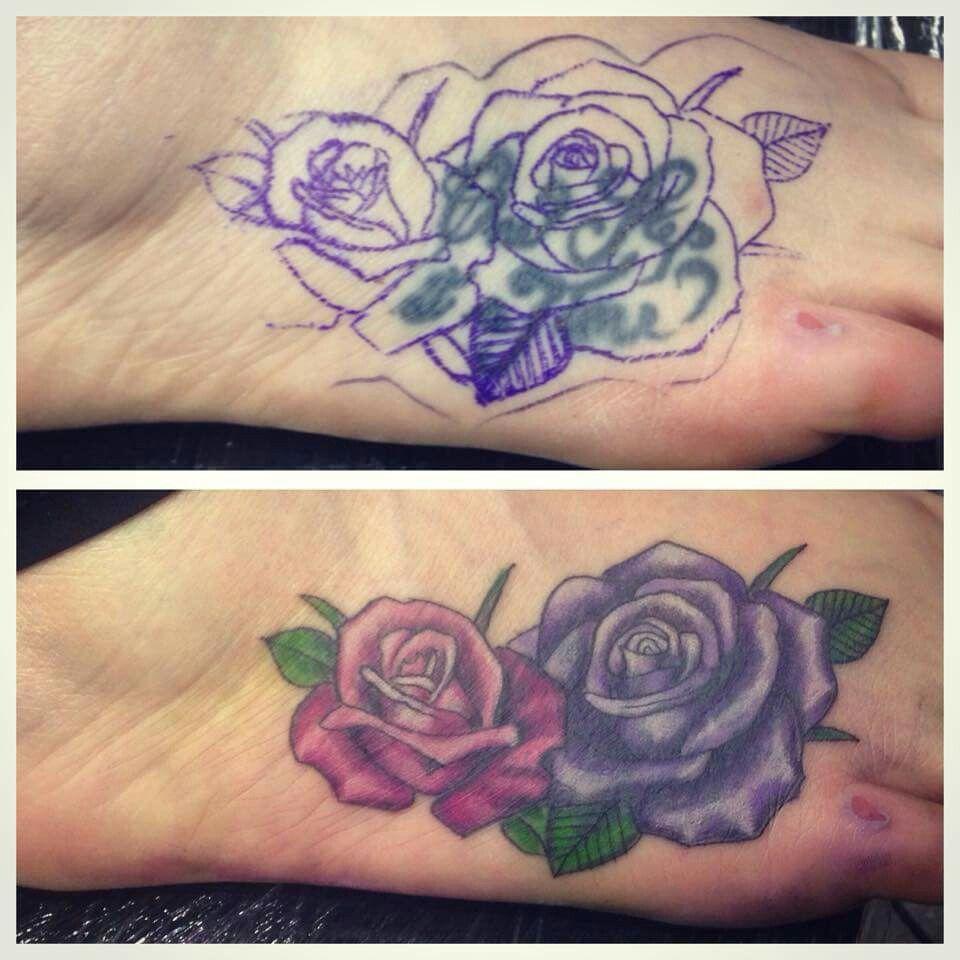 My tattoo cover up on my foot tatts pinterest tattoo