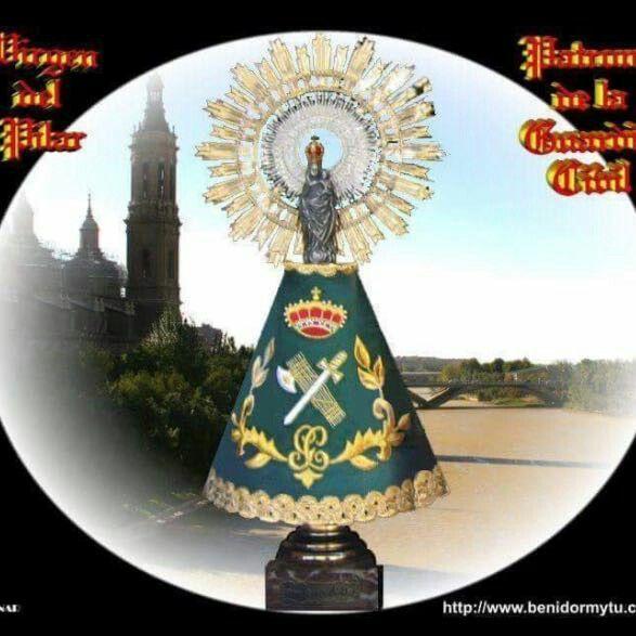 Patrona De La Guardia Civil Virgen Del Pilar Imagen Virgen Del Pilar Manto De La Virgen Historia De La Virgen