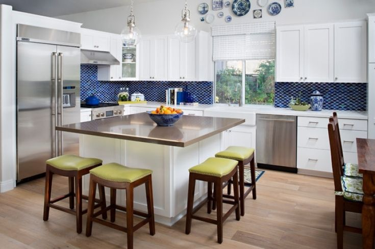 Creative Square Kitchen Island With Seating   Kitchen ...