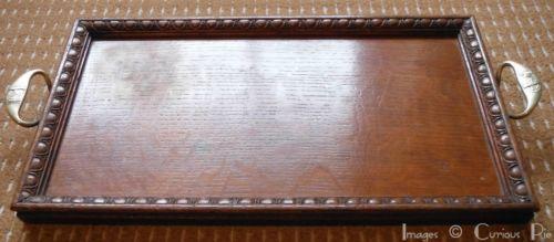 St Dunstans Vintage Antique Wooden Oak Butlers Serving