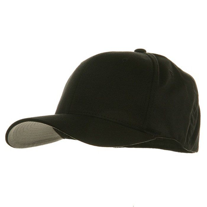 9d2a55fb89e Extra Big Size Flexfit Caps-Black W06S44F Wooly Combed Twill by Yupoong (XL-