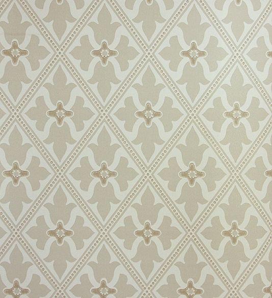 Neutral Trellis Wallpaper: Bayham Abbey Wallpaper