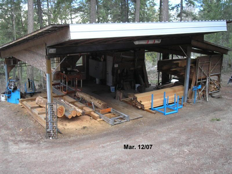 Sawmill shed and other buildings pictures   Portable Sawmills