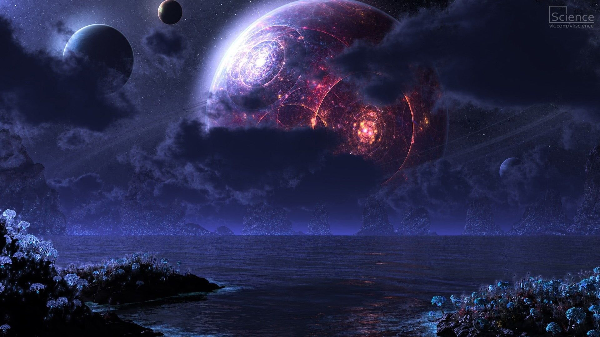 Red Planet And Ocean Painting Space Futuristic Galaxy Space Art Planet Science Fiction Digital Art 10 In 2020 Scenery Wallpaper Planets Wallpaper Sci Fi Wallpaper