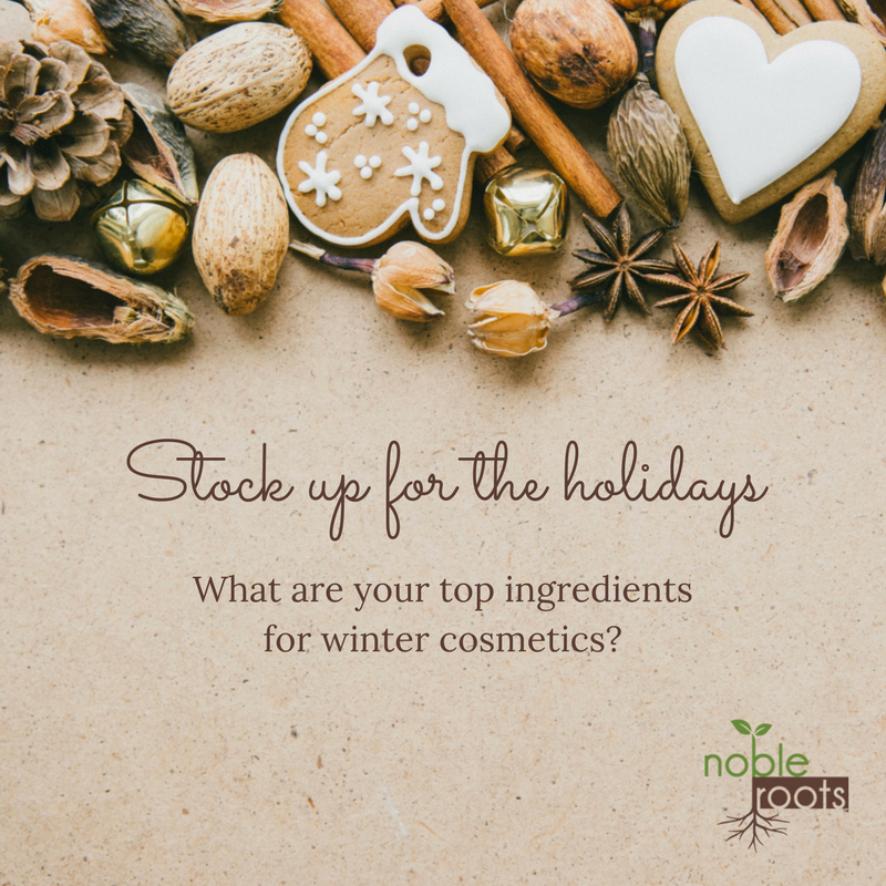 Raw ingredients for winter cosmetics DIY and Indie