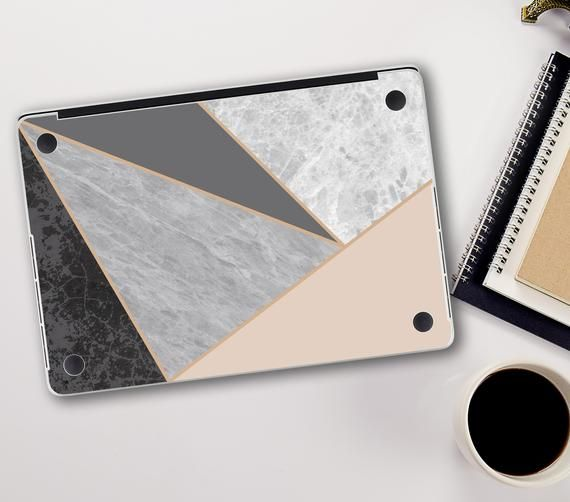 Geometric Macbook Pro 15 Skin Macbook Air 2018 Grey Marble Decal Macbook Pro Retina Skin for Macbook Pro 13 White Marble Decal Vinyl Skin