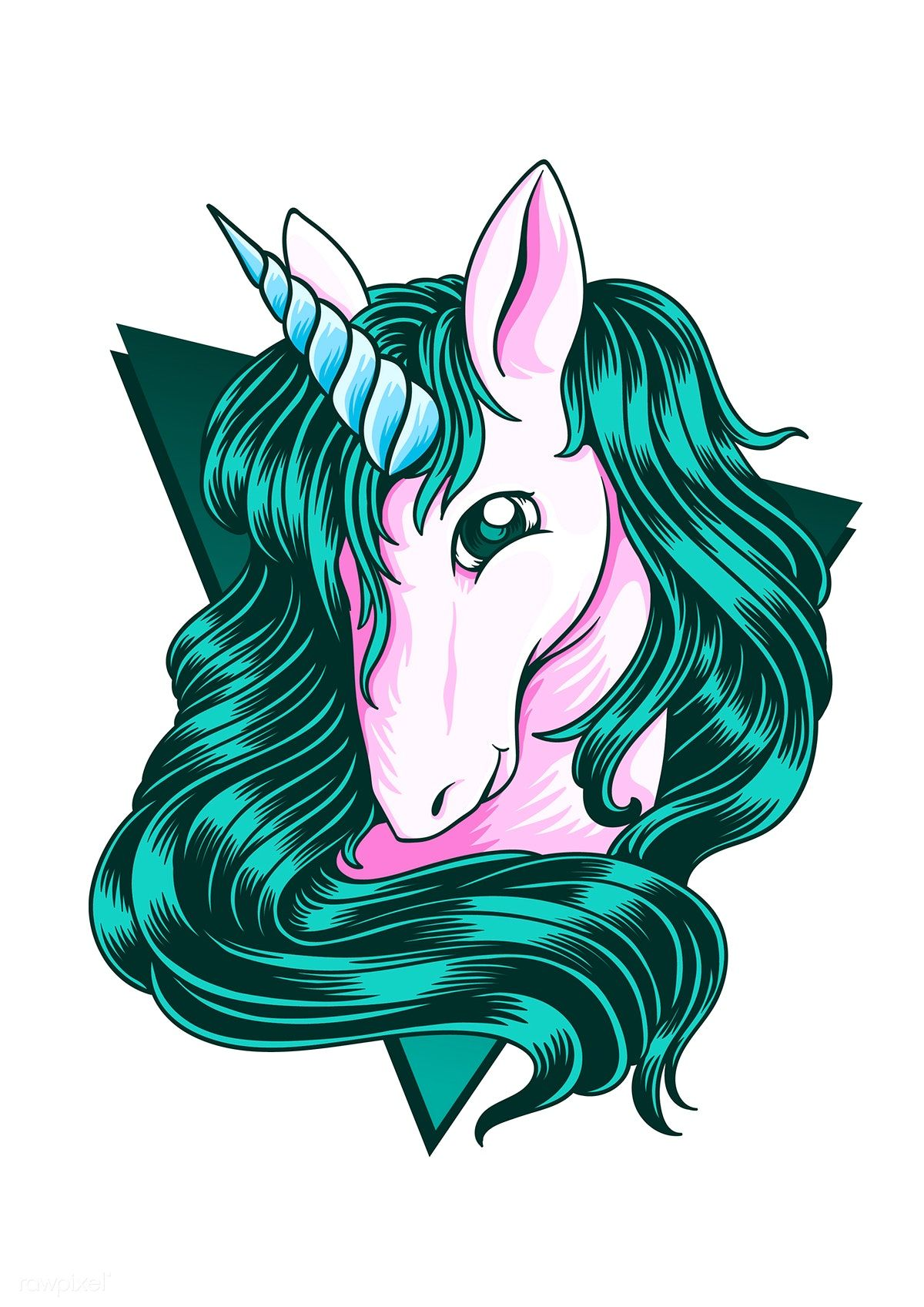 Download premium vector of Cute unicorn stylized drawing