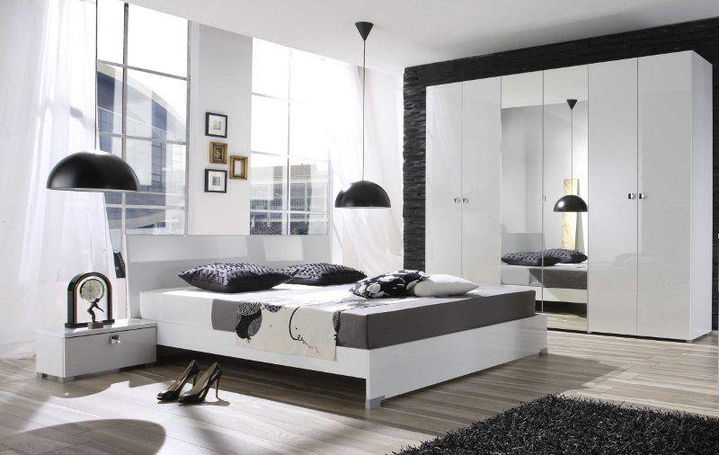 Schlafzimmer Weiss Hochglanz Lack Italien Diamante3 Schlafzimmer
