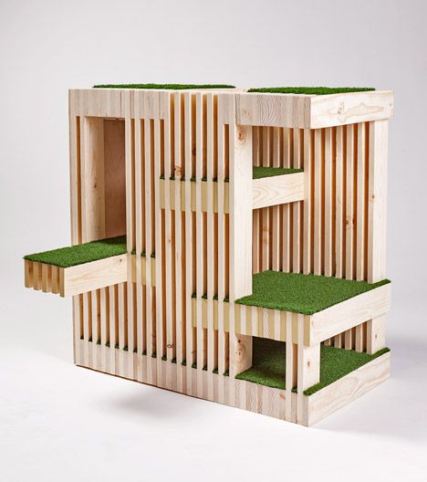 architecture for animals cat house by rnl 家 キャットタワー ペット用ベッド