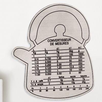 Le convertisseur de mesures en inox forme bouilloire conversion pinterest convertisseur de - Convertisseur mesure cuisine ...