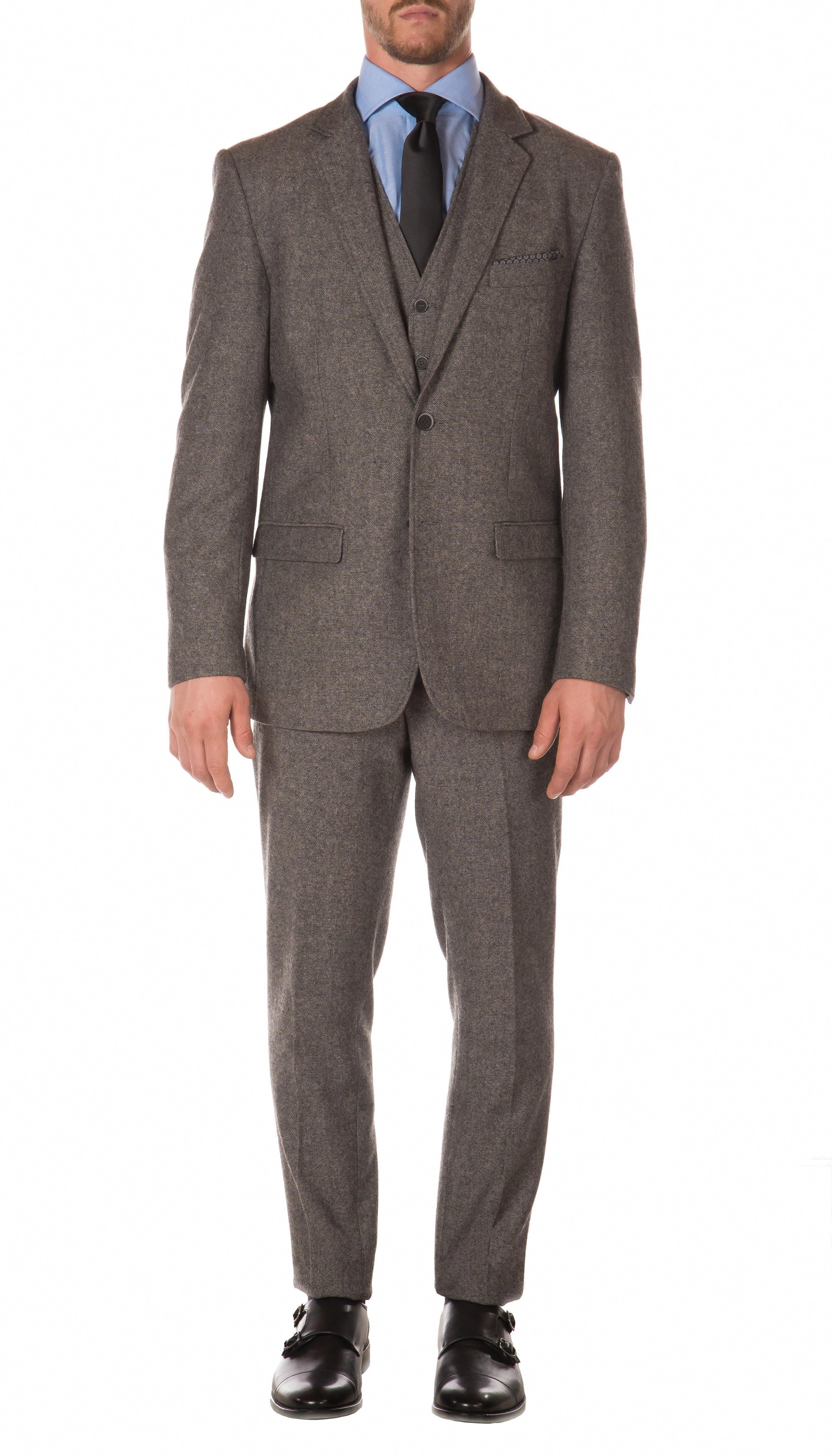 9f24e02c3 Hugo Boss HUGO Men's Modern-Fit Stretch Navy Plaid Suit & Reviews - Suits &  Tuxedos - Men - Macy's