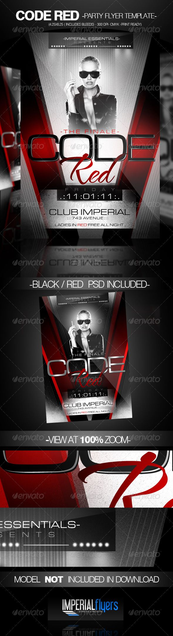 Code Red Party Flyer  Party Flyer Flyer Template And Template