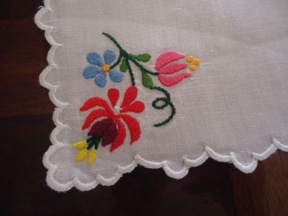 Vintage kalocsai, hungarian embroidery