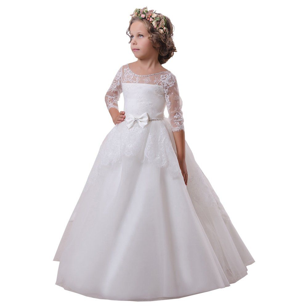 New Girl  First Communion Dress Formal Size 5 6 7 8 10 White dress