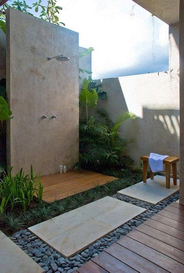 Duchas de exterior. Ideas interesantes de duchas al aire libre ...