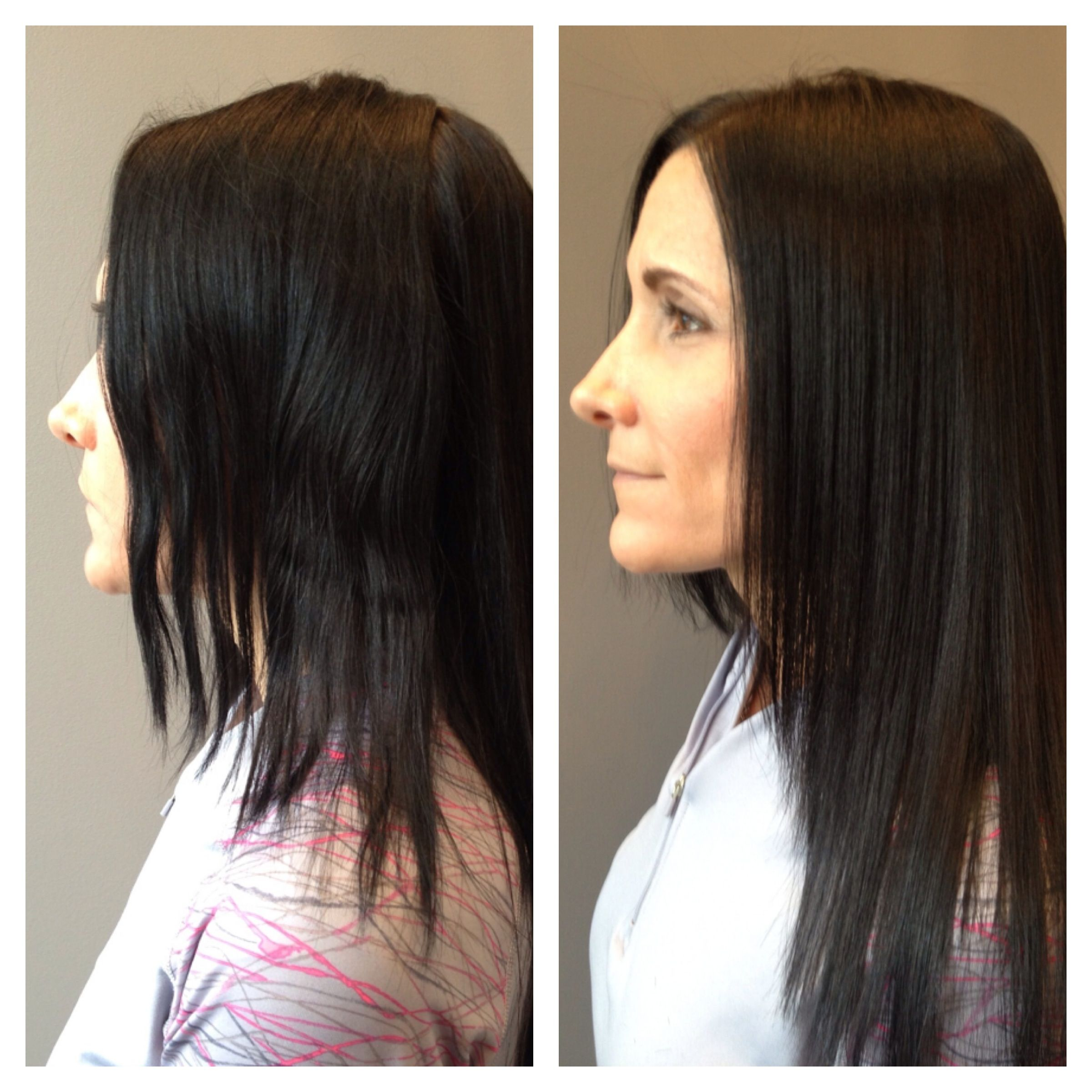 Before and after Great Lengths extensions Bryan s work