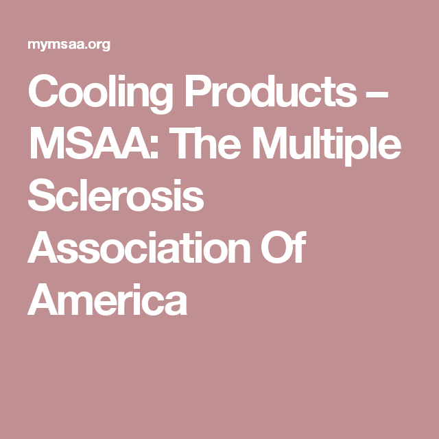 Cooling Products Msaa The Multiple Sclerosis Association Of