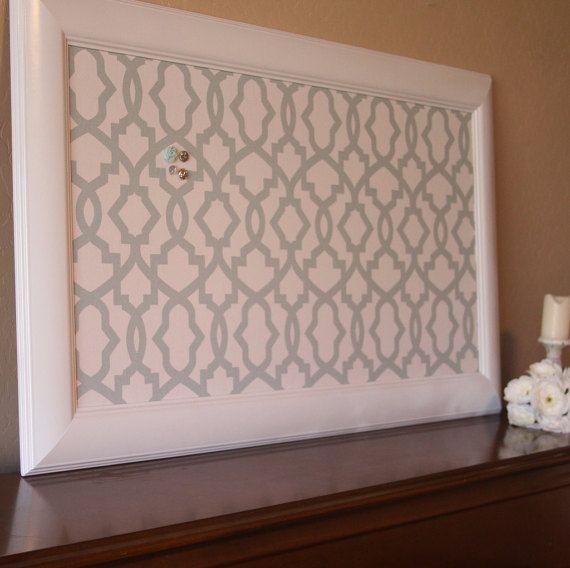 Framed Fabric Pin Board Large Fabric Cork Bulletin Board XL ...
