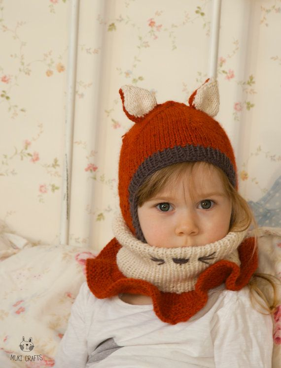 Knitting Pattern Balaclava Cat Fox Hat Evan With Outer Cowl