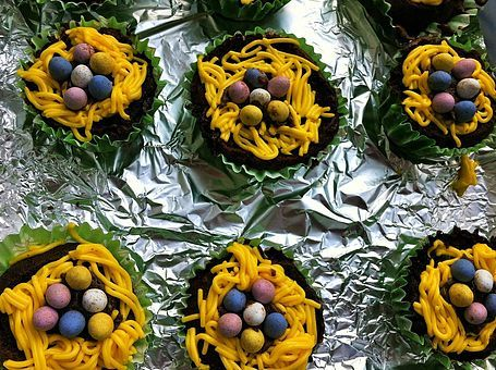 Baking | Easter Nest Cupcakes