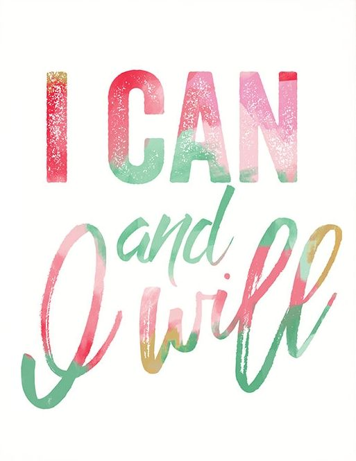 I Can And I Will PRINTABLE Inspirational,inspirational