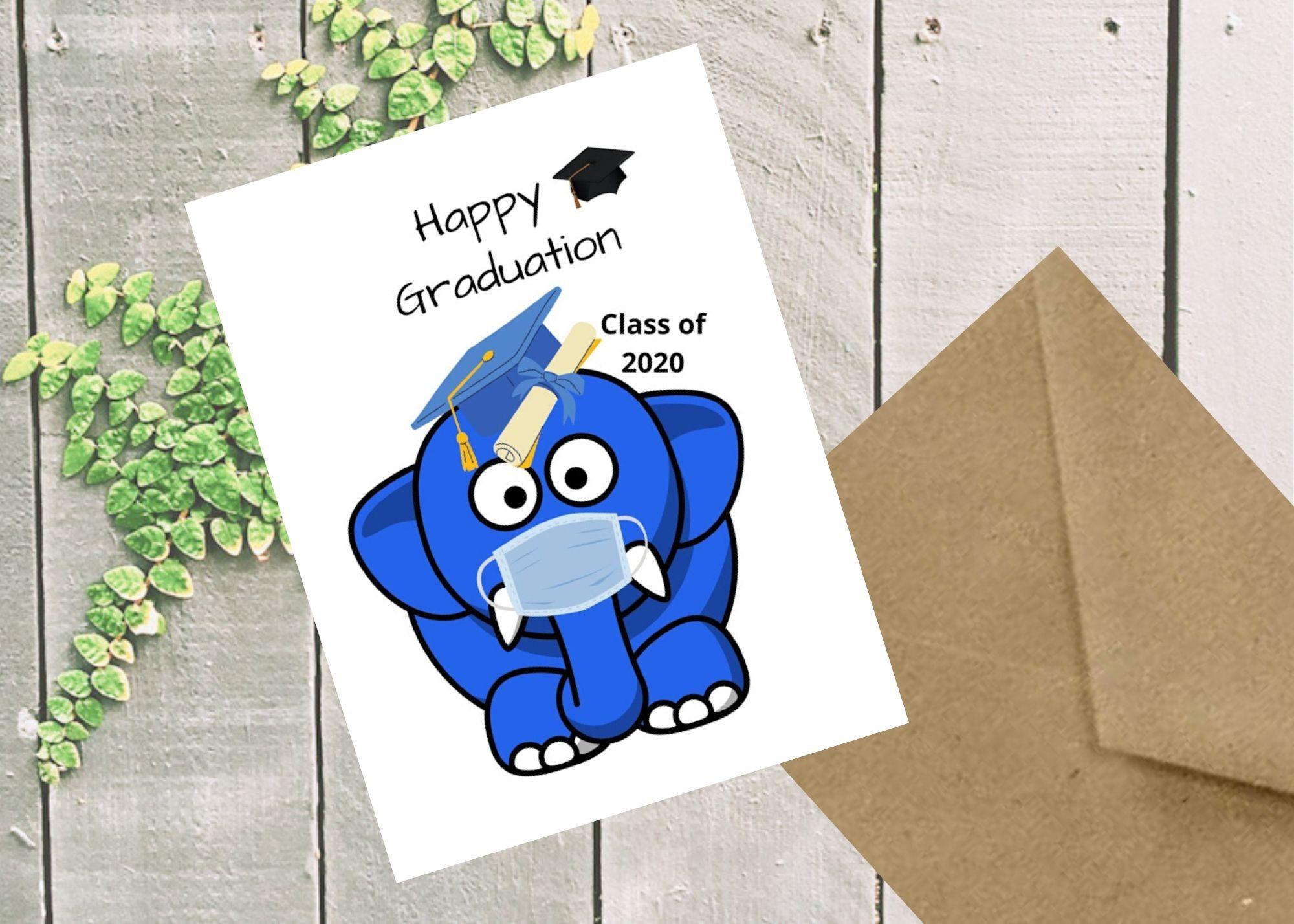 Graduation card social distancing card happy graduation