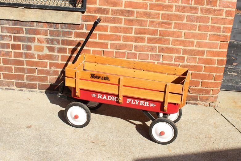 Vintage Radio Flyer Trav Ler Children S Wagon Childrens Wagon Vintage Radio Radio Flyer