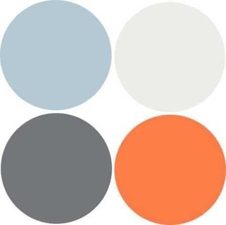 Modern interior design 9 decor and paint color schemes - Combination of orange color ...