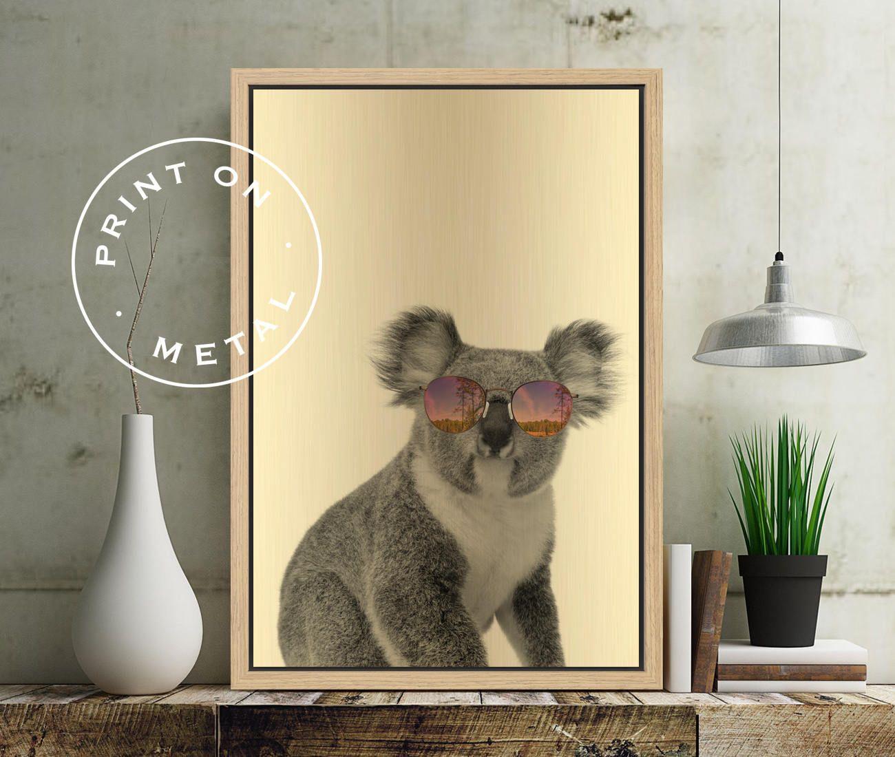 KOALA PRINT - Print on Metal, Koala Poster, Koala Wall Art, Baby ...