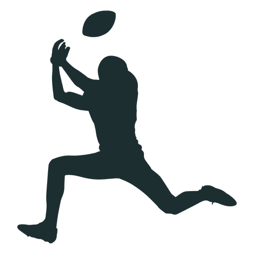 American Football Player Catching Silhouette Transparent Png Svg Vector Football Silhouette Football Players Images Silhouette Png