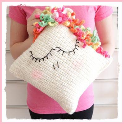 Einhorn Kissen Häkeln Anleitung Kostenlos Unicorn Pillow