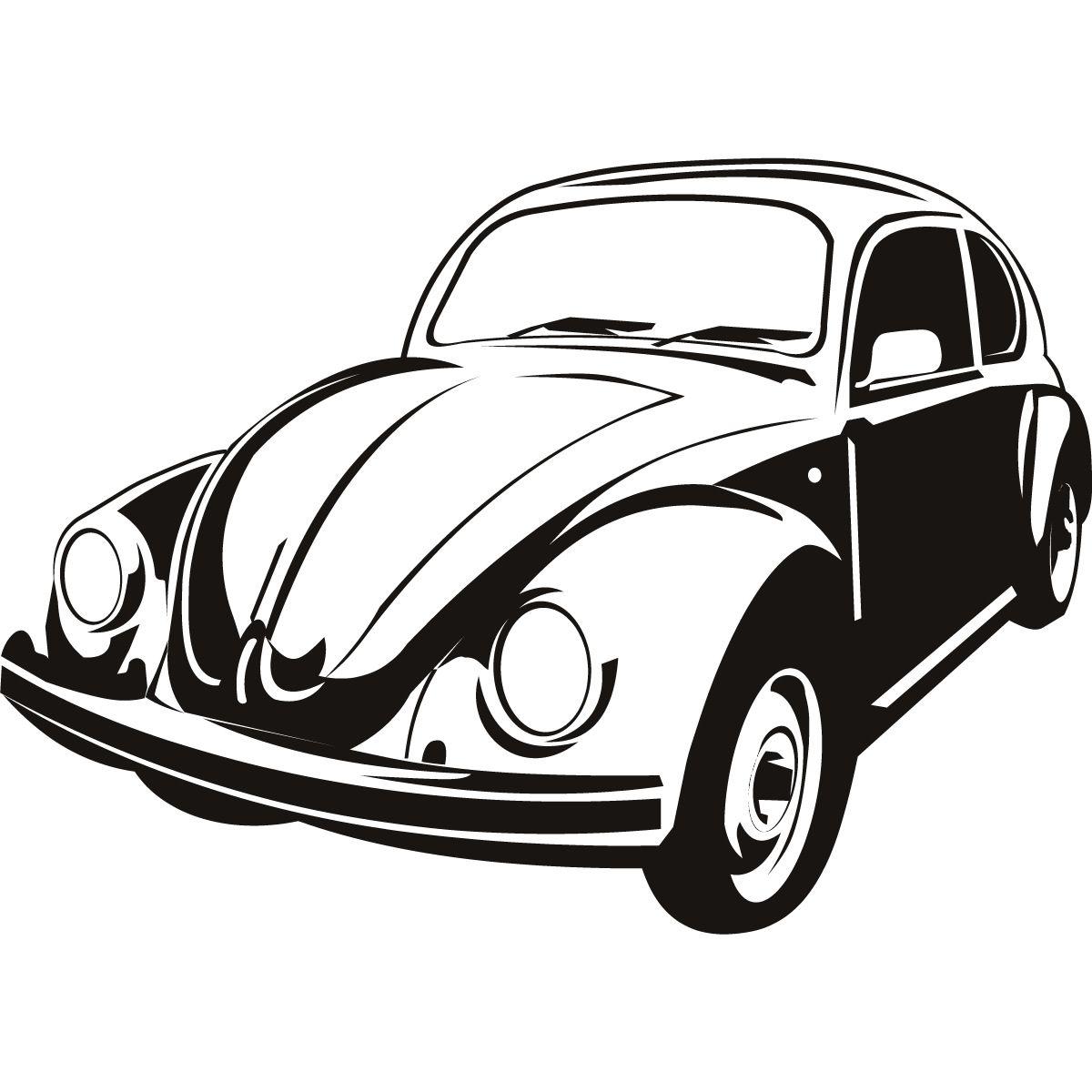 jack daniels silhouette vw pinterest Orange VW Van jack daniels silhouette beetle cartoon car wall art beetle drawing