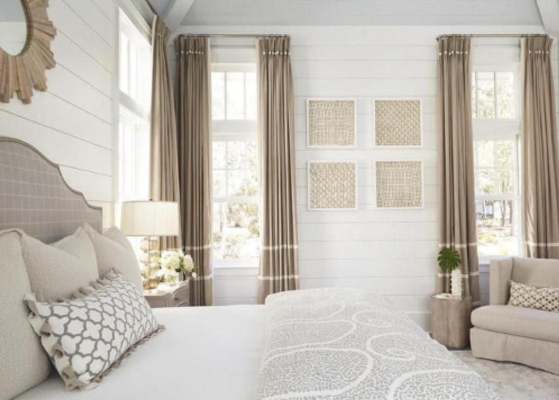 Custom Curtains Beige Curtains With Ivory Stripes Colorblock Etsy Beige Curtains Beige Curtains Living Room Taupe Curtains #tan #living #room #curtains